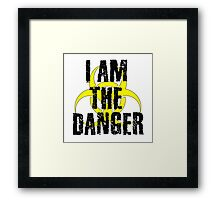 Breaking Bad Quote I am the danger Walter White TV Quote Cool Badass Framed Print