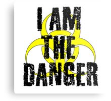 Breaking Bad Quote I am the danger Walter White TV Quote Cool Badass Metal Print