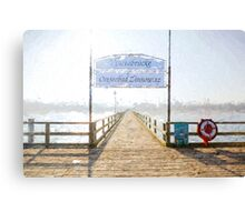Zinnowitz pier Canvas Print