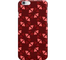 Red and pink heart in dark color iPhone Case/Skin