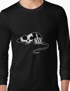 Rat Silhouette Skull Long Sleeve T-Shirt