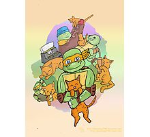 Tmnt Mikey and klunk Photographic Print
