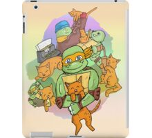Tmnt Mikey and klunk iPad Case/Skin