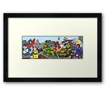 tmnt and transformers Framed Print