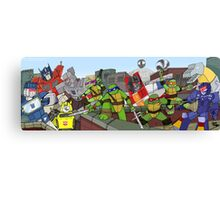 tmnt and transformers Canvas Print