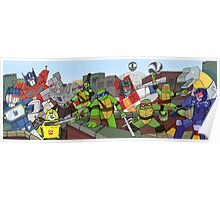 tmnt and transformers Poster