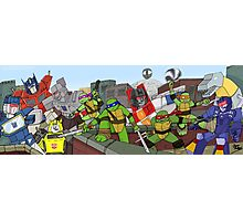 tmnt and transformers Photographic Print