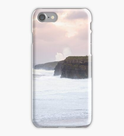 giant white waves and cliffs on the wild atlantic way iPhone Case/Skin