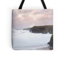 giant white waves and cliffs on the wild atlantic way Tote Bag