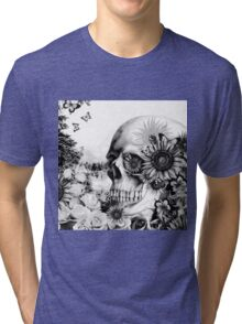 Reflection. Skull landscape Tri-blend T-Shirt