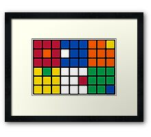 Mixed Up Cube - Rubiks Framed Print