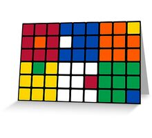 Mixed Up Cube - Rubiks Greeting Card