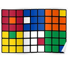 Mixed Up Cube - Rubiks Poster