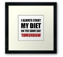 Diet Tomorrow Framed Print