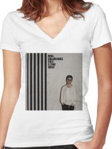Noel Gallaghers : High Flying Birds Women's Fitted V-Neck T-Shirt