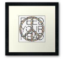 Peace Sign Feed your head Jefferson Airplane 60s Music Lyrics Framed Print