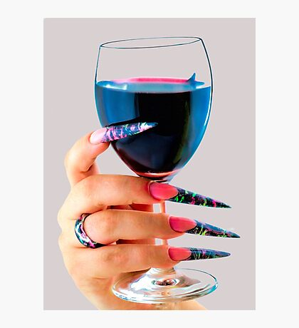 Glass of red wine Photographic Print