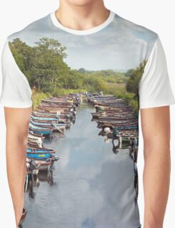 rowing boats moored at ross castle Graphic T-Shirt