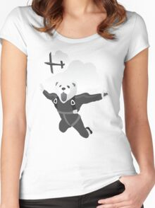 Impractical Jokers Murr Ferret Skydive Funny Fan Art Unofficial Women's Fitted Scoop T-Shirt