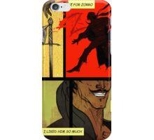 Mark of Zorro - comic iPhone Case/Skin