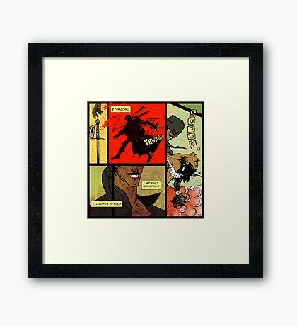 Mark of Zorro - comic Framed Print