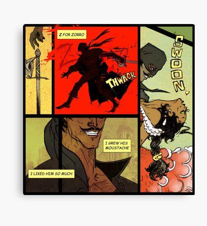 Mark of Zorro - comic Canvas Print