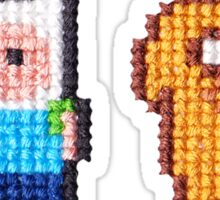 Adventure time! 8-bit Cross stitch Finn and Jake Sticker