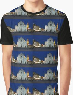 Blue Hour - Santa Croce Church, Florence, Italy Graphic T-Shirt