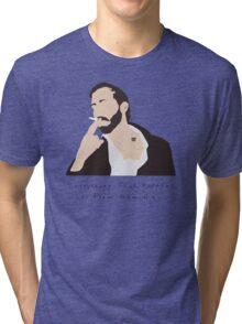 Bon Iver Wild Cabin Indie Folk Fan Art Unofficial Music Tri-blend T-Shirt