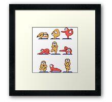 Yoga Sloth Framed Print