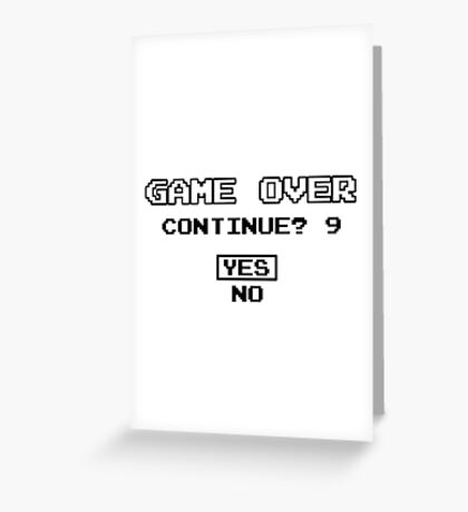 Game Over Geek Gaming Nerd Retro PC NES SNES PlayStation XBOX SEGA Greeting Card
