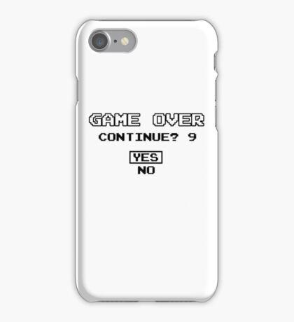 Game Over Geek Gaming Nerd Retro PC NES SNES PlayStation XBOX SEGA iPhone Case/Skin