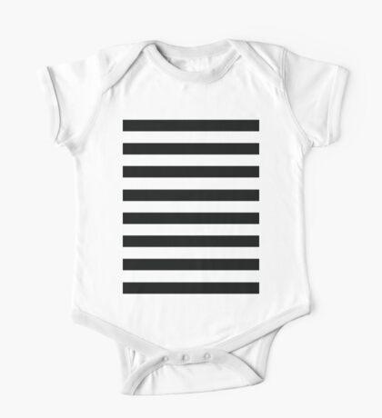 Huge black stripes One Piece - Short Sleeve