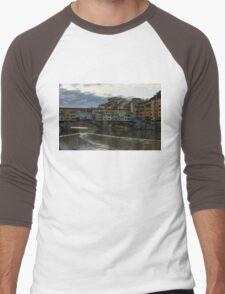 Light Trails on the Arno - Florence, Italy Men's Baseball ¾ T-Shirt