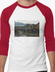 Light Trails on the Arno - Florence, Italy Men's Baseball ¾ T-Shirt