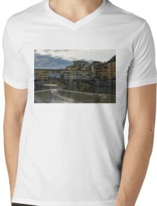 Light Trails on the Arno - Florence, Italy Mens V-Neck T-Shirt