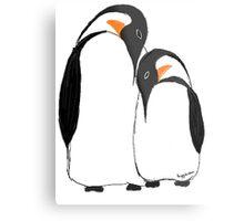 Penguin Partners Metal Print