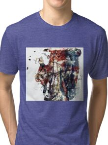 Crucifixion II 1, Christ in Fury Tri-blend T-Shirt
