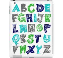 Alphabet for Baby's Room Green Aqua Blue Grey Kid's decor iPad Case/Skin