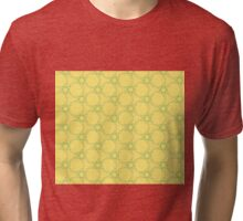 Abstract  pattern over yellow background Tri-blend T-Shirt
