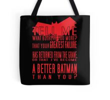 Red Hood Quotes Tote Bag