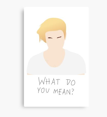 Justin Bieber What Do You Mean Fan Art Unofficial Music  Canvas Print