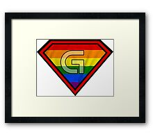 SUPER GAY HERO Framed Print