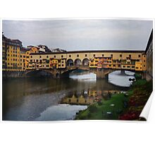 Impressions Of Florence - Ponte Vecchio Autumn Poster