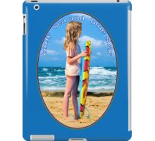 only  sea and  blue sky for me iPad Case/Skin