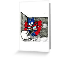 Transformers in the Office Greeting Card