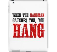 The Hateful Eight Quentin Tarantino Quote Badass Hangman Western iPad Case/Skin