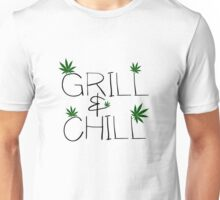 Weed Marijuana Chill Smoking Pot Stoner Funny Unisex T-Shirt