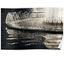 Dancing Silver Fountains Poster