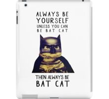 Cat Batman batcat quote parody iPad Case/Skin